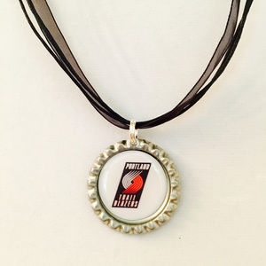 Portland TRAILBLAZERS Handmade Basketball Necklace